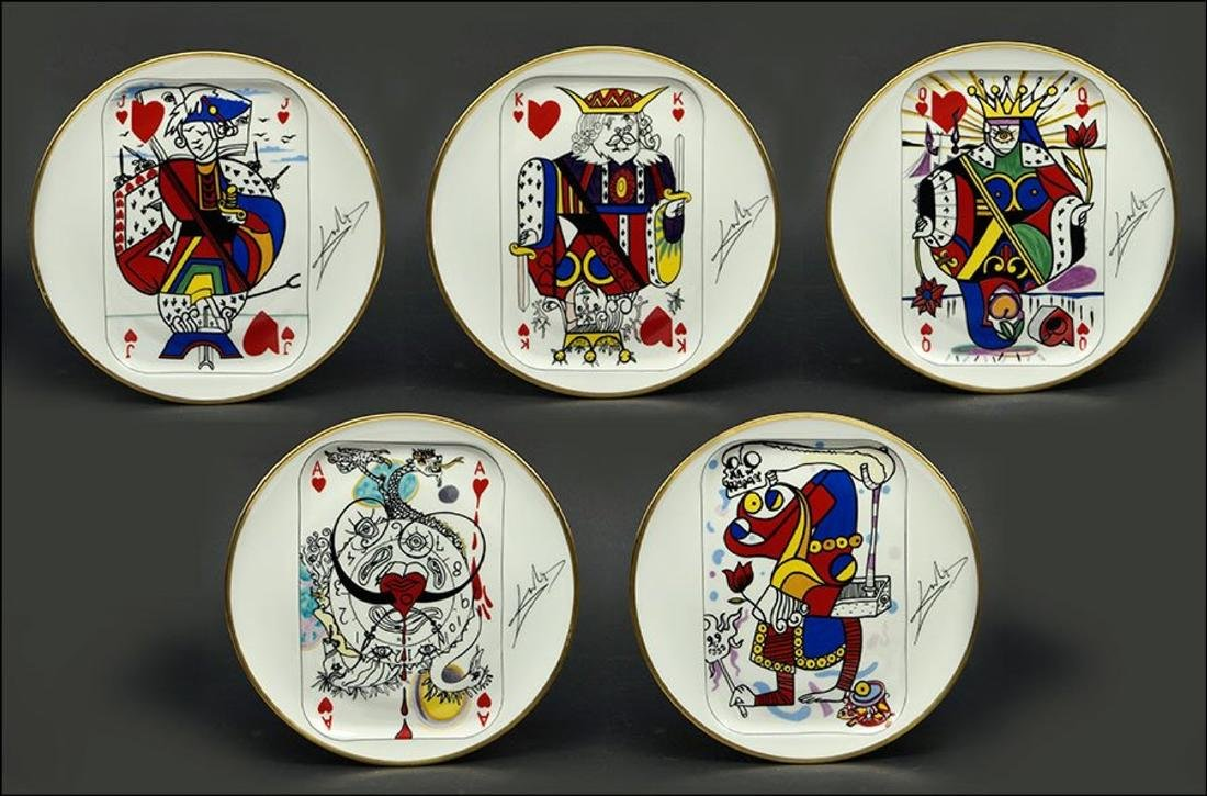 "Set of 5 Salvador Dali ""Puiforcat"" Limoges Porcelain"