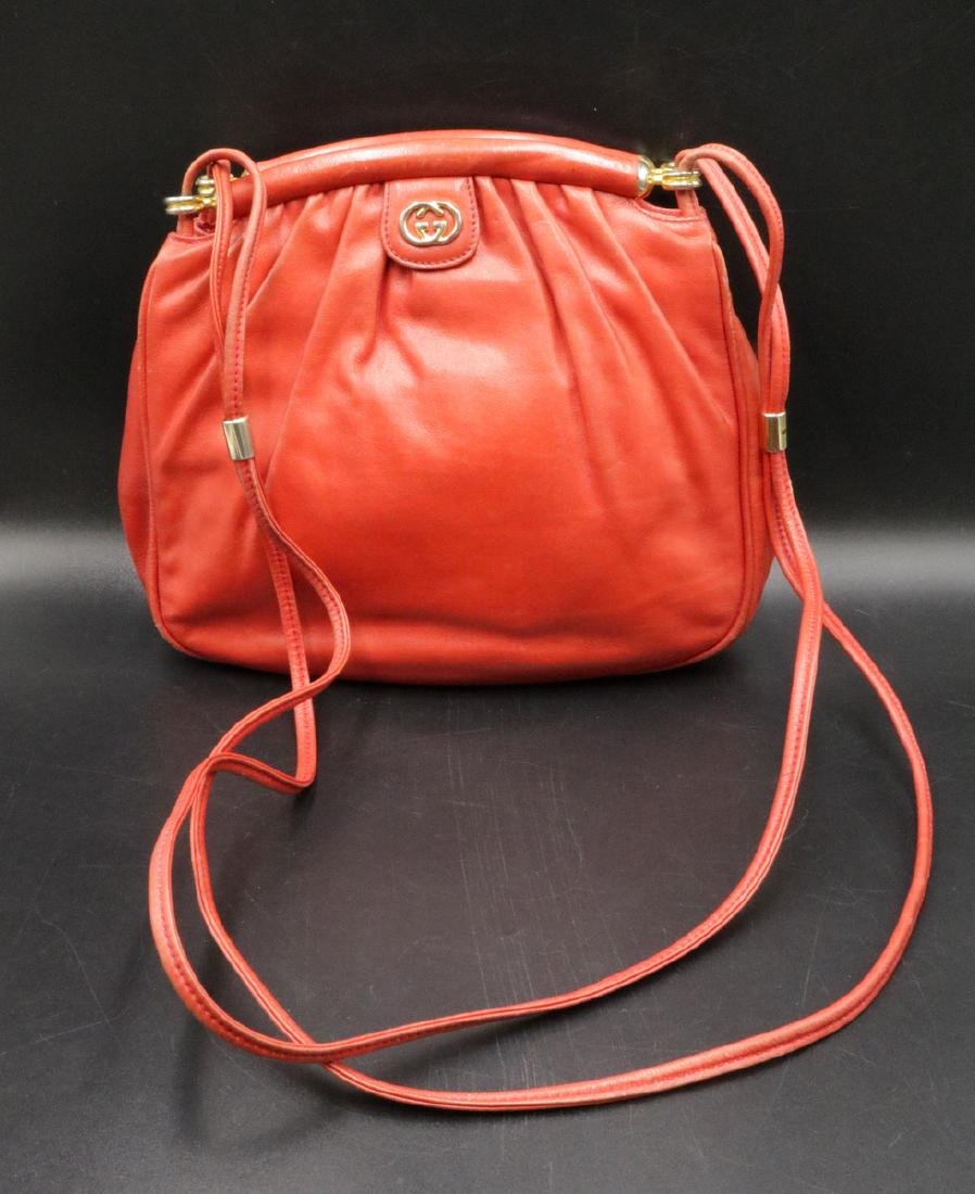 Authentic Gucci Red Leather Purse