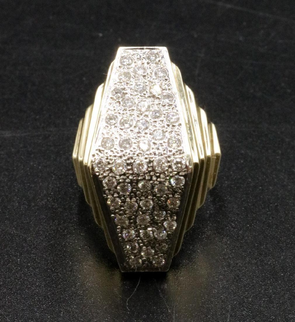 14Kt YG & Diamond Dome Ring