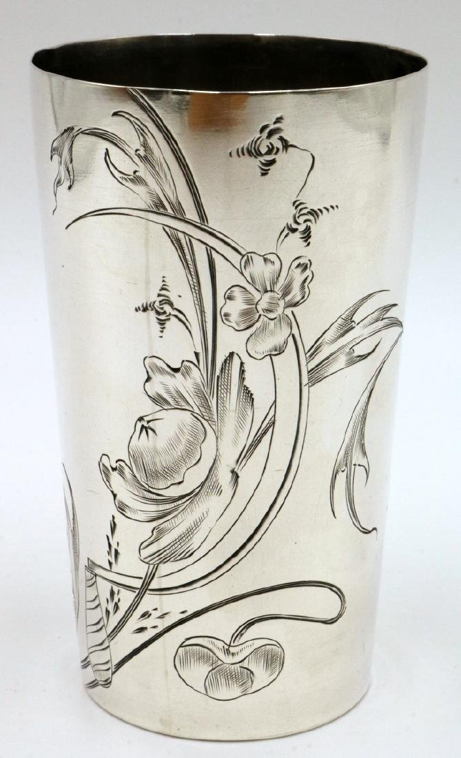 Russian 84 Silver Floral Cup
