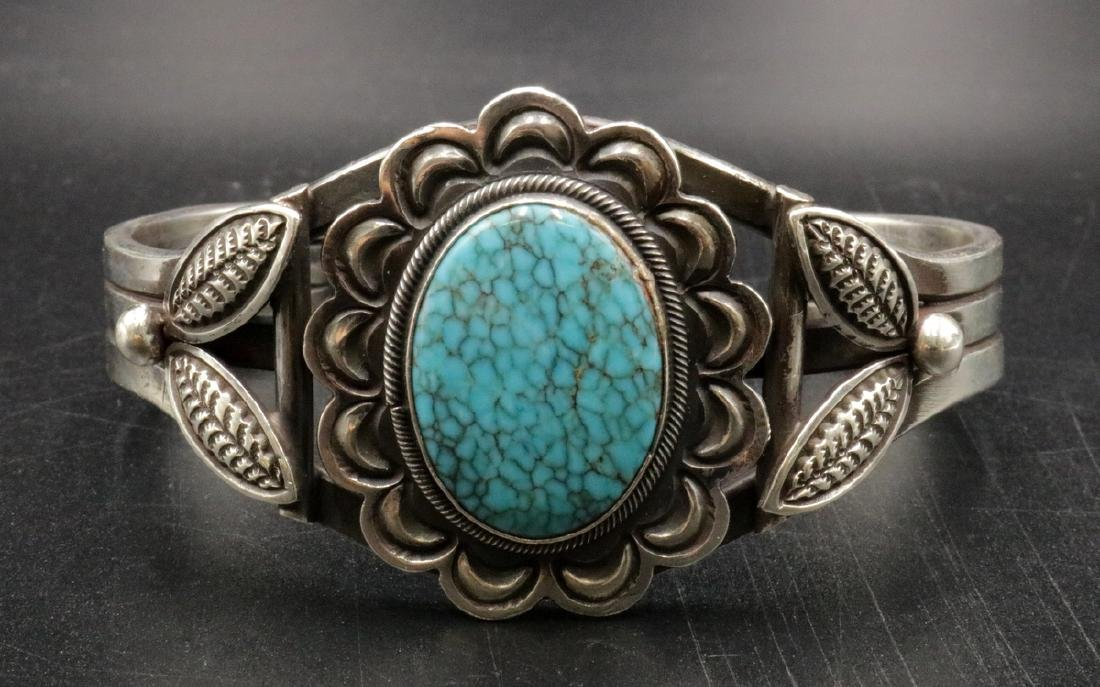 M. Morgan Navajo Turquoise & Sterling Cuff