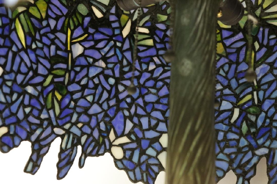 Vintage Tiffany Studios Style Stained Glass & Bronze - 5