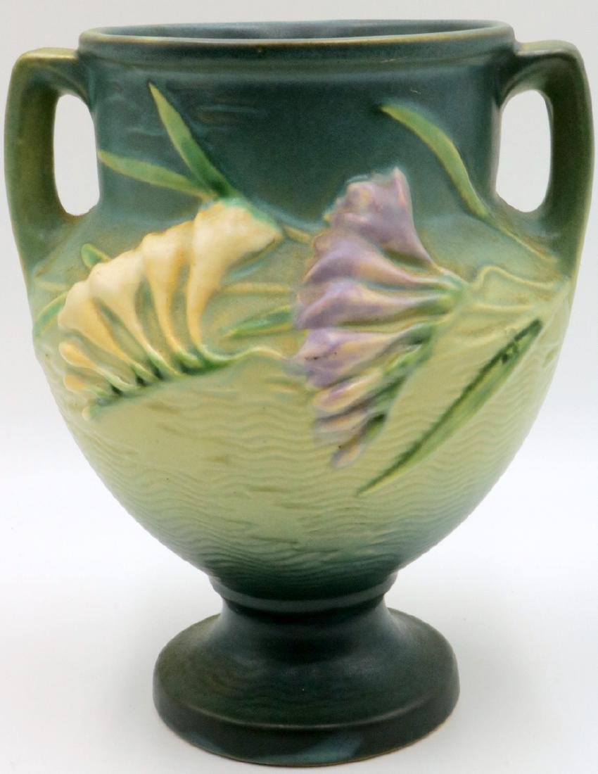 "Roseville ""Freesia"" Pottery Vase"