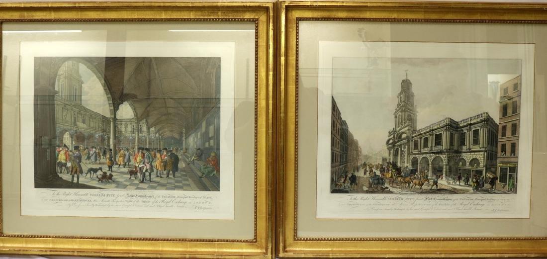 """Francesco Bartolozzi """"Royal Exchange"""" Colored"""