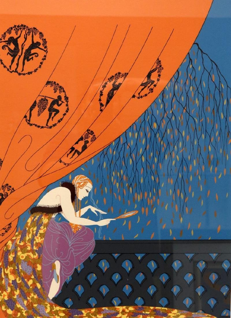 """Erte """"Fall"""" Limited Edition Serigraph"""