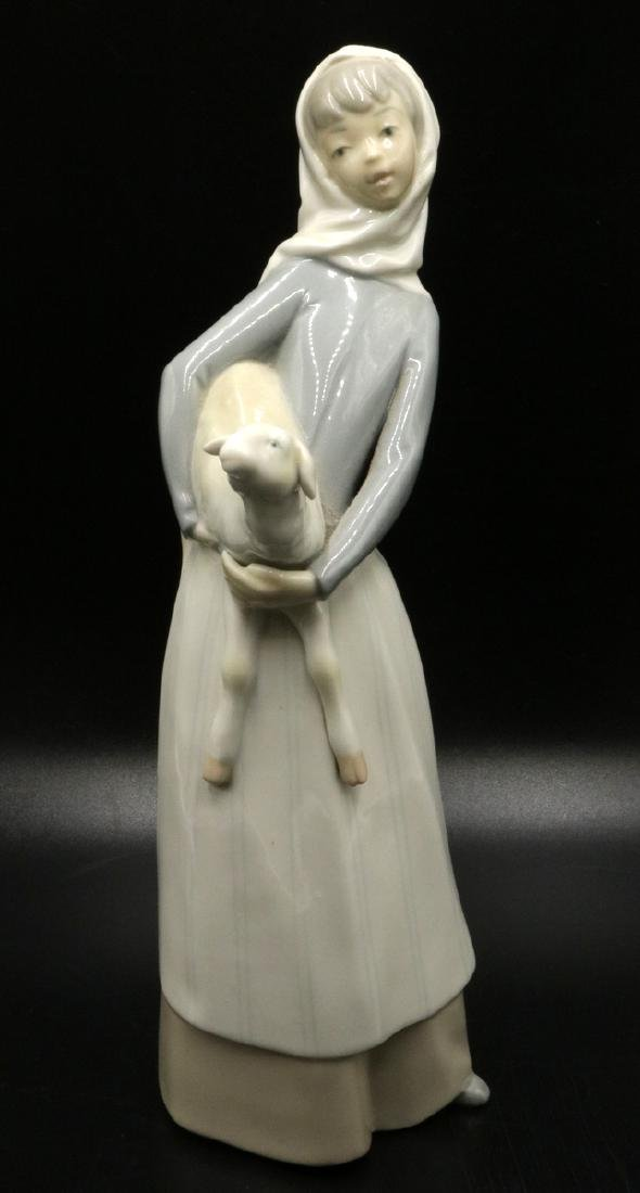 Lladro Porcelain Girl with Lamb