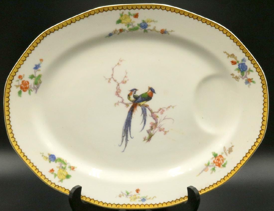 """Theodore Haviland Limoges """"Eden"""" Porcelain Meat Platter"""
