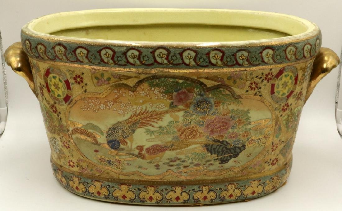 Antique Chinese Hand Painted Porcelain Planter