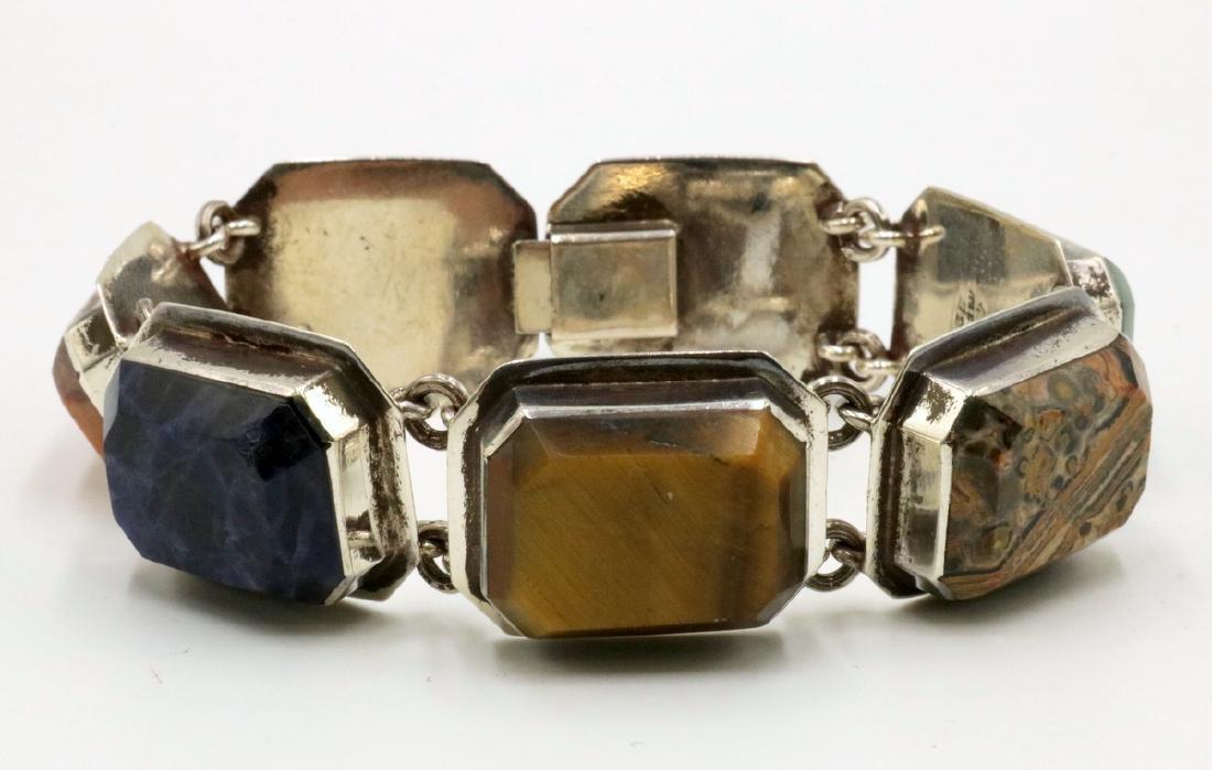 Taxco Semi-Precious Stone & Sterling Bracelet