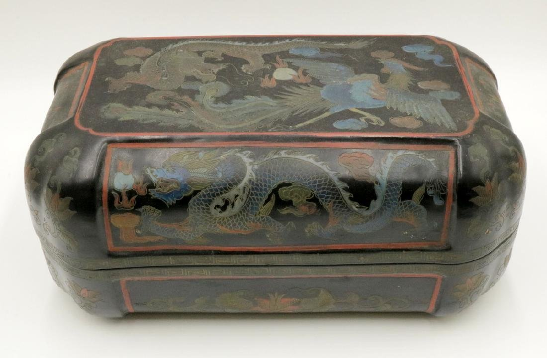 Chinese Black Lacquered Box