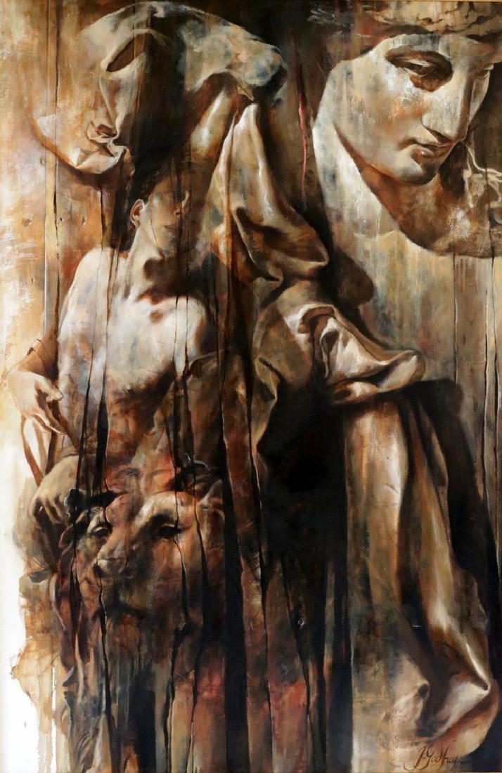 Signed J. Godfrey Oil on Canvas