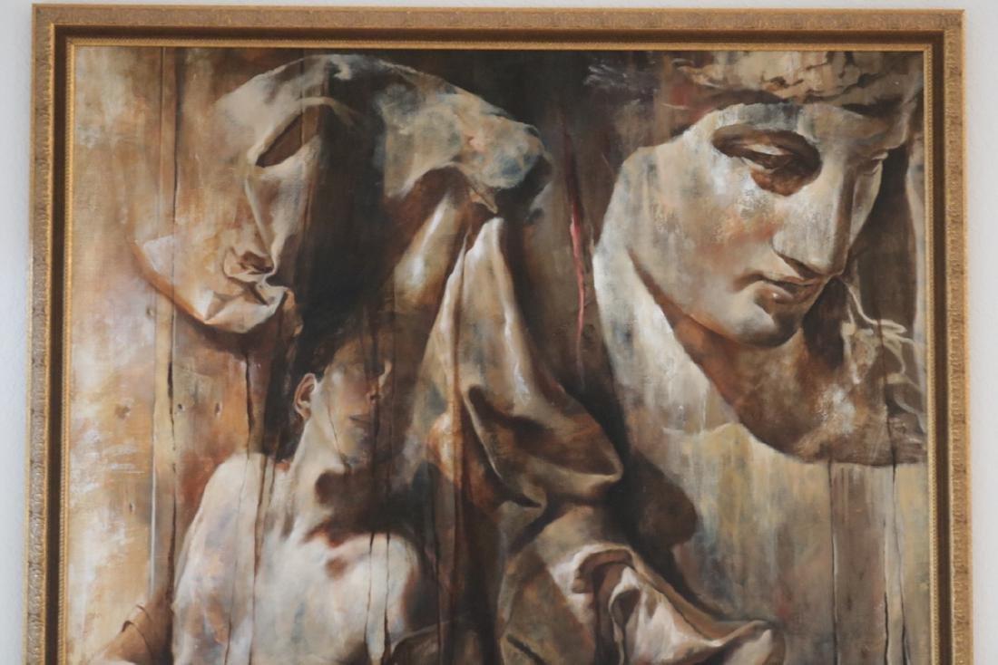 Signed J. Godfrey Oil on Canvas - 2