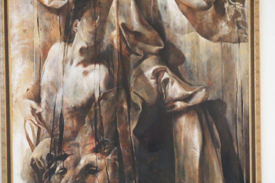 Signed J. Godfrey Oil on Canvas - 3