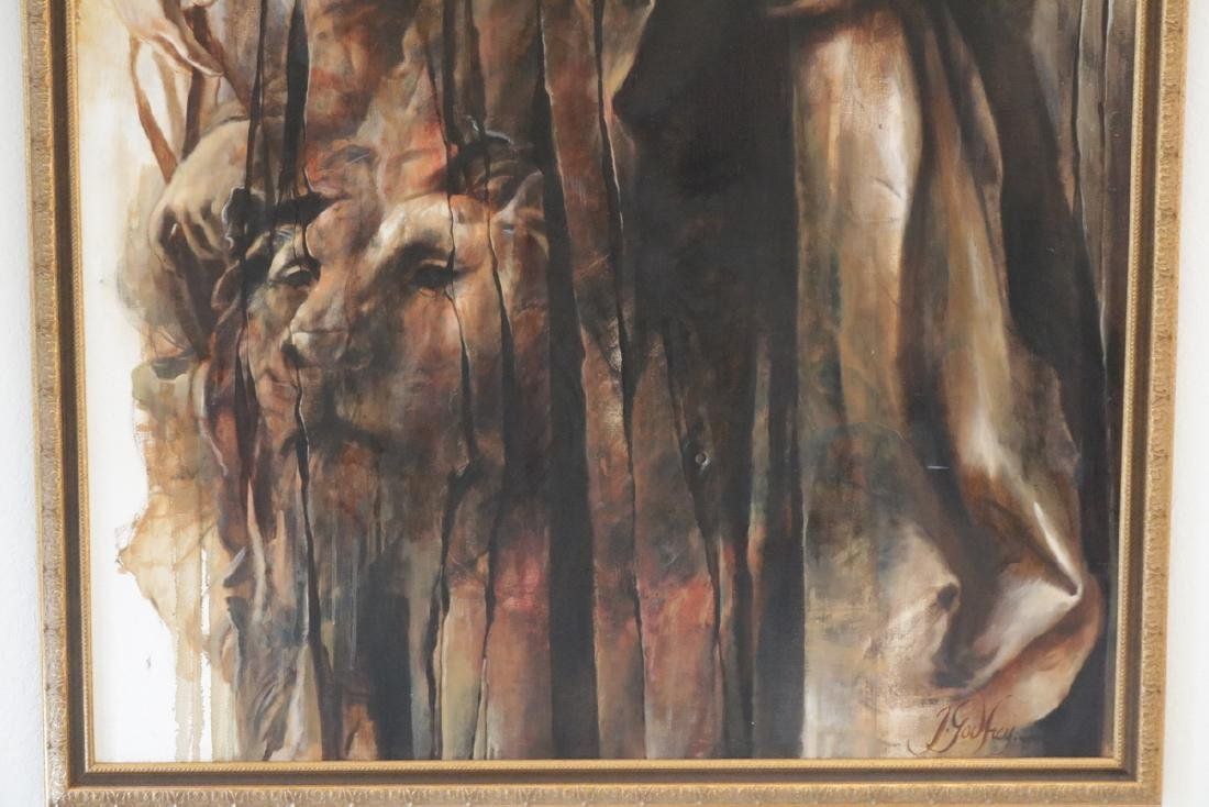 Signed J. Godfrey Oil on Canvas - 4