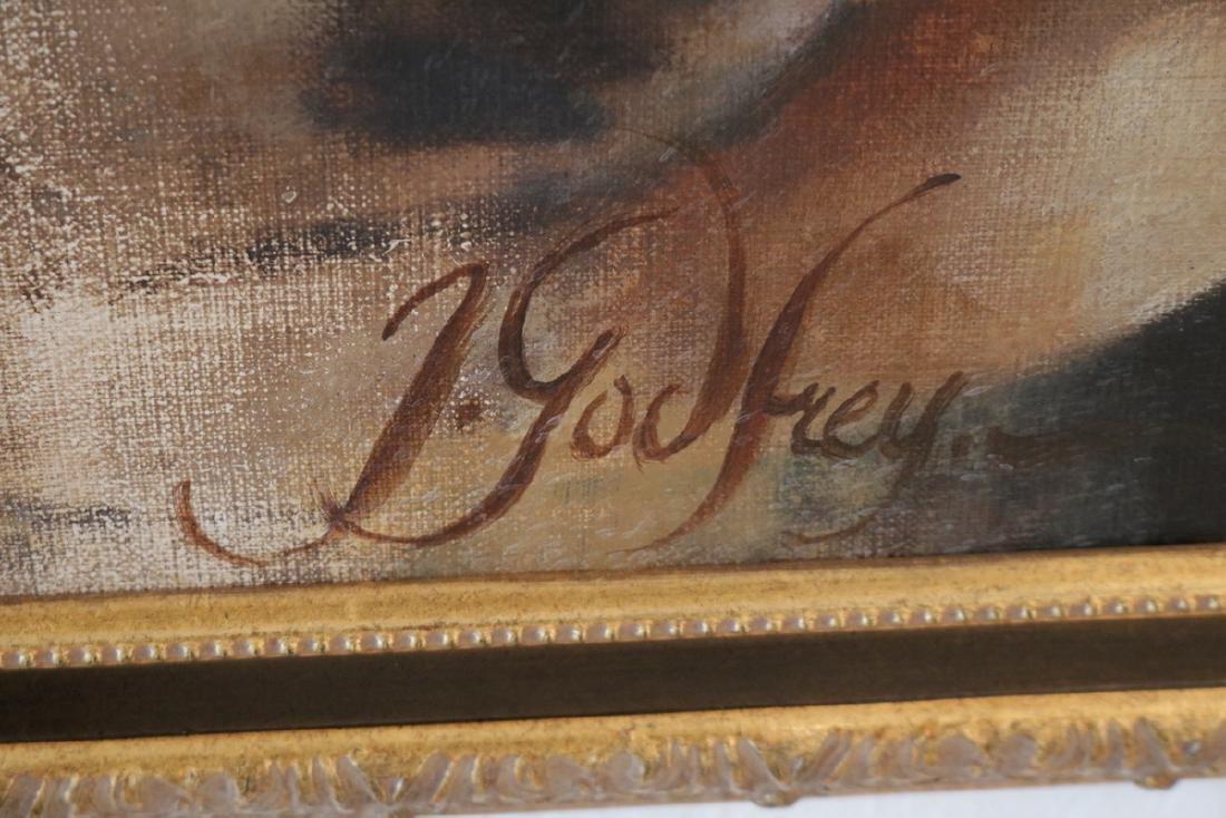 Signed J. Godfrey Oil on Canvas - 5