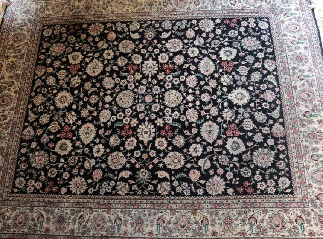 Large 10' x 8' Silk/Wool Rug