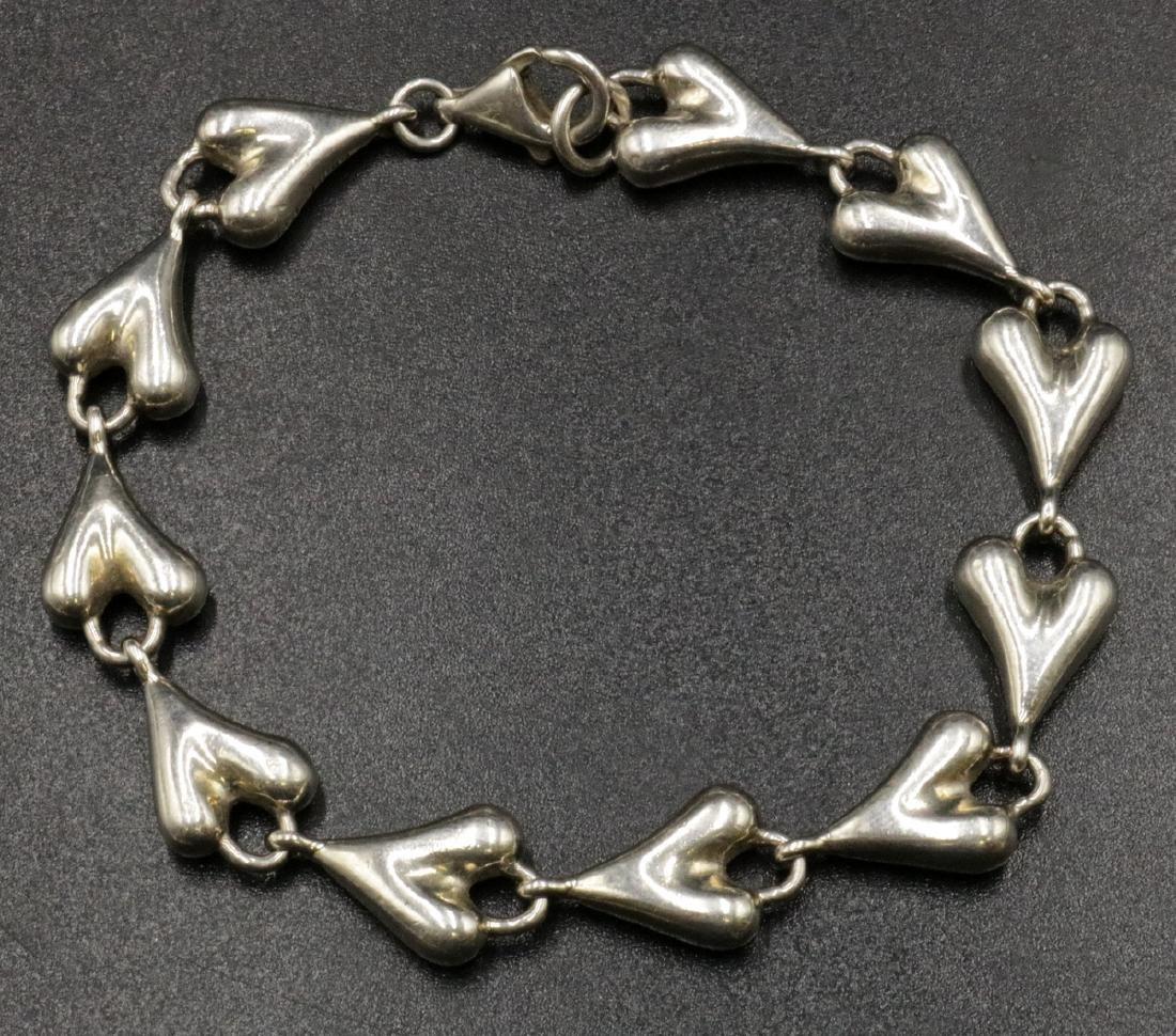 Robert Lee Morris Sterling Heart Bracelet
