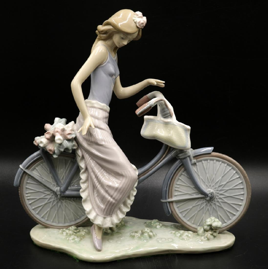 "Lladro ""Biking in the Country"" #5272 Porcelain Figure"