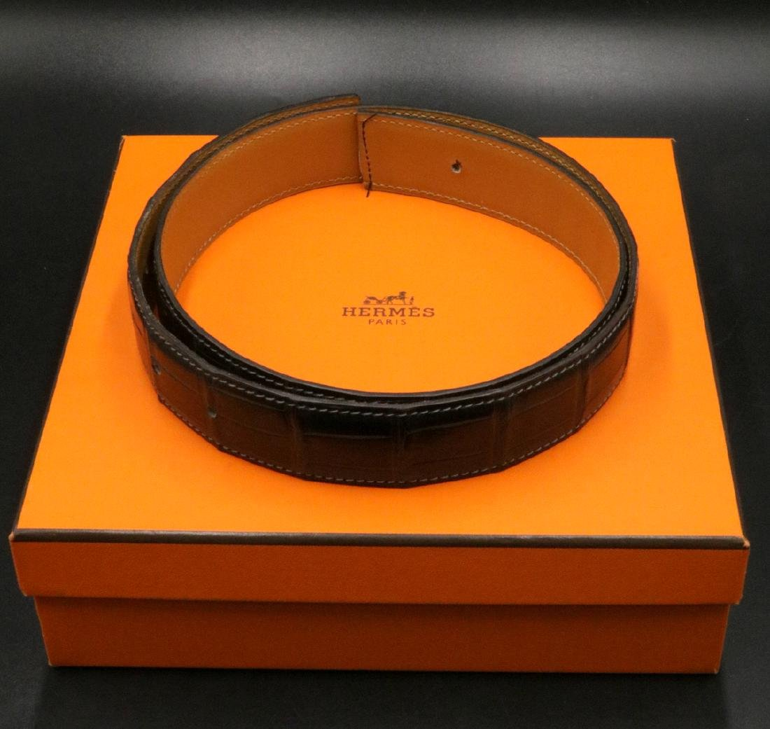 Hermes Porosus Crocodile Leather 32MM Belt