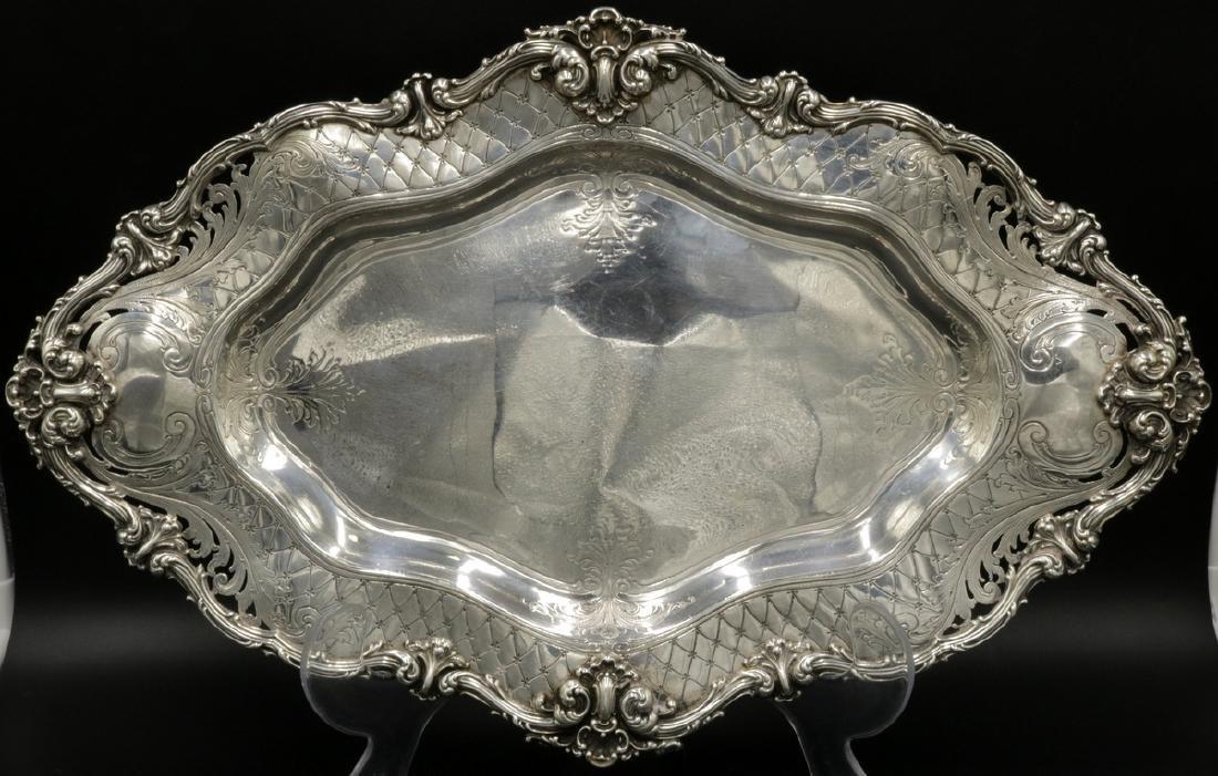 19th C. Redlich Sterling Silver Tray