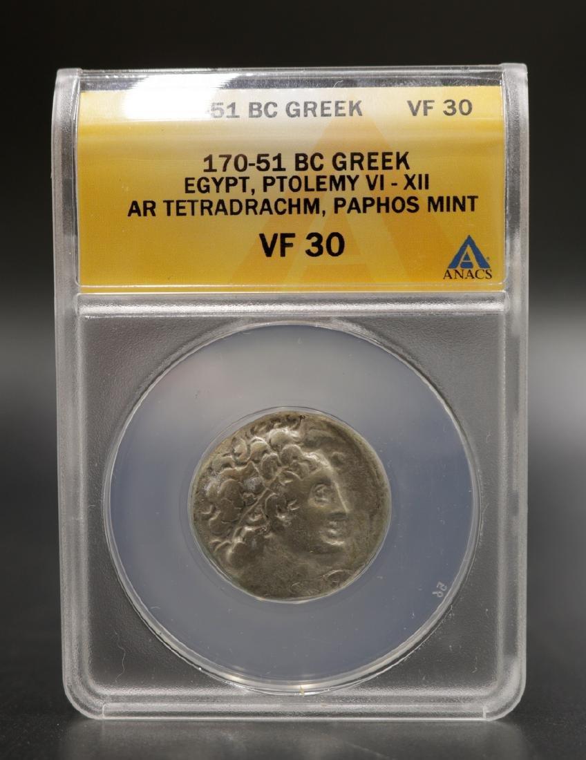 170-51 BC Greek VF30 Silver Coin