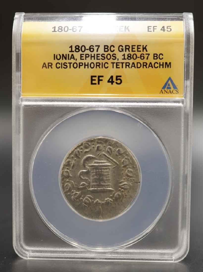180-67 BC Greek EF 45 Silver Coin