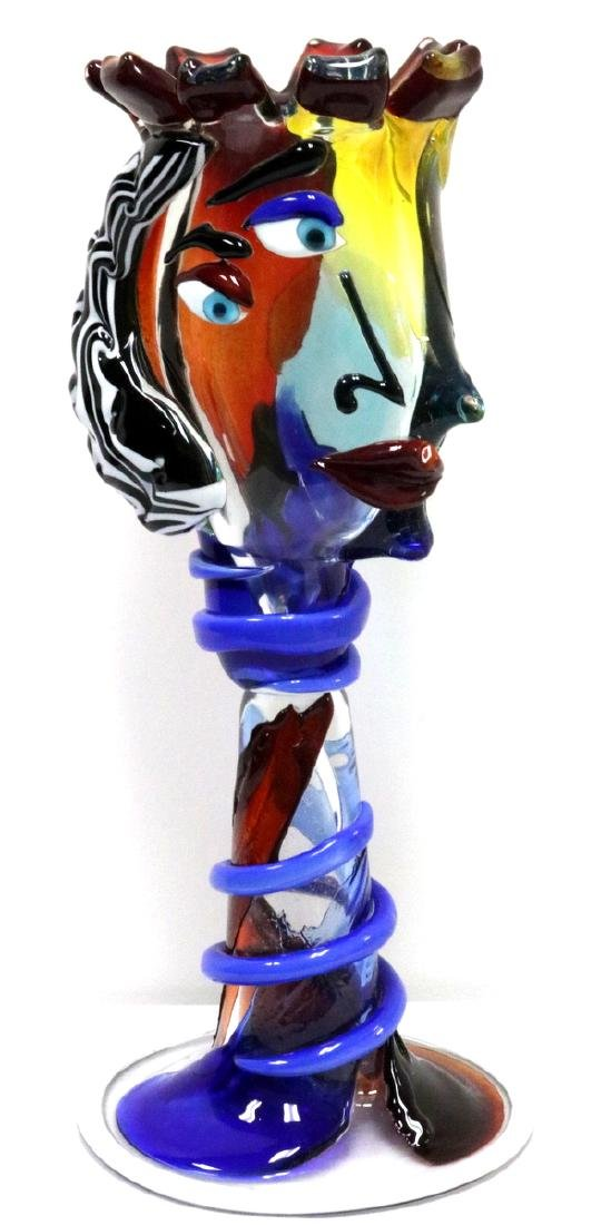 Unique Fabio Tagliapietra Murano Art Glass Vase