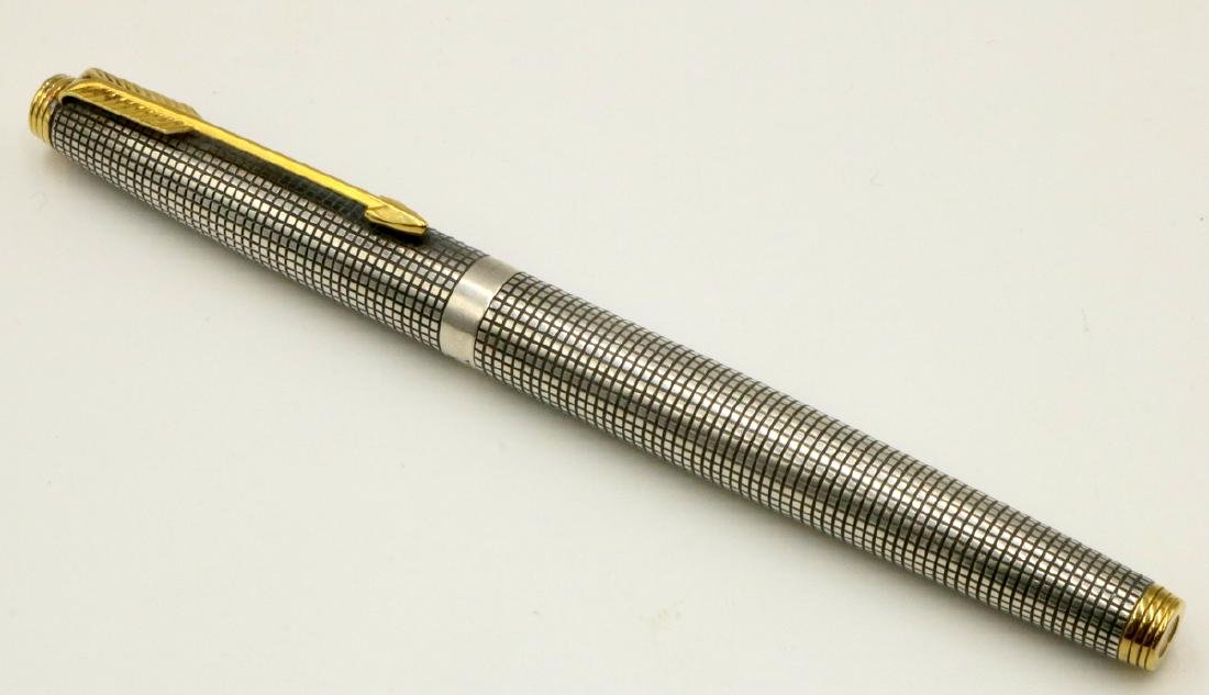 Parker Cicele Flat 14Kt Nib & Sterling Fountain Pen