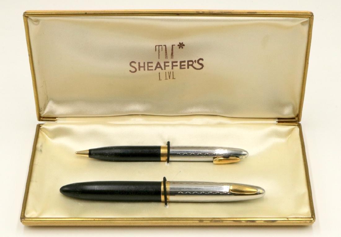 Sheaffers Tuckaway Sentinel Black & Chrome Fountain Pen