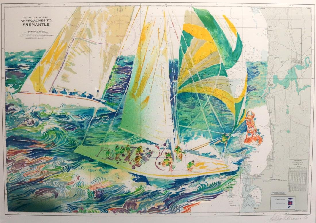"""LeRoy Neiman """"Approaches to Fremantle"""" Serigraph"""