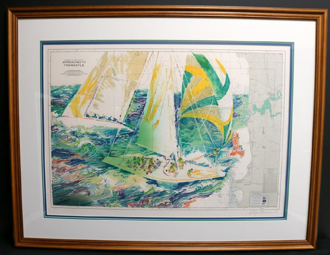 """LeRoy Neiman """"Approaches to Fremantle"""" Serigraph - 2"""