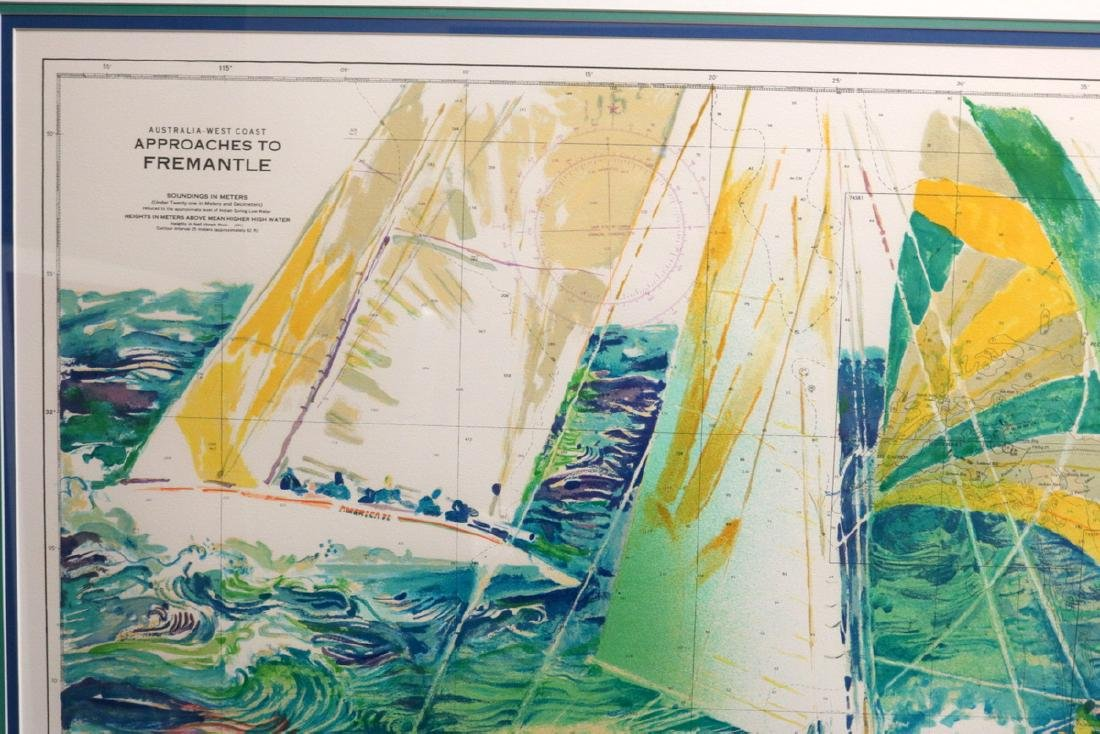 """LeRoy Neiman """"Approaches to Fremantle"""" Serigraph - 3"""