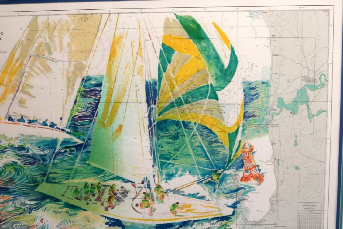 """LeRoy Neiman """"Approaches to Fremantle"""" Serigraph - 4"""