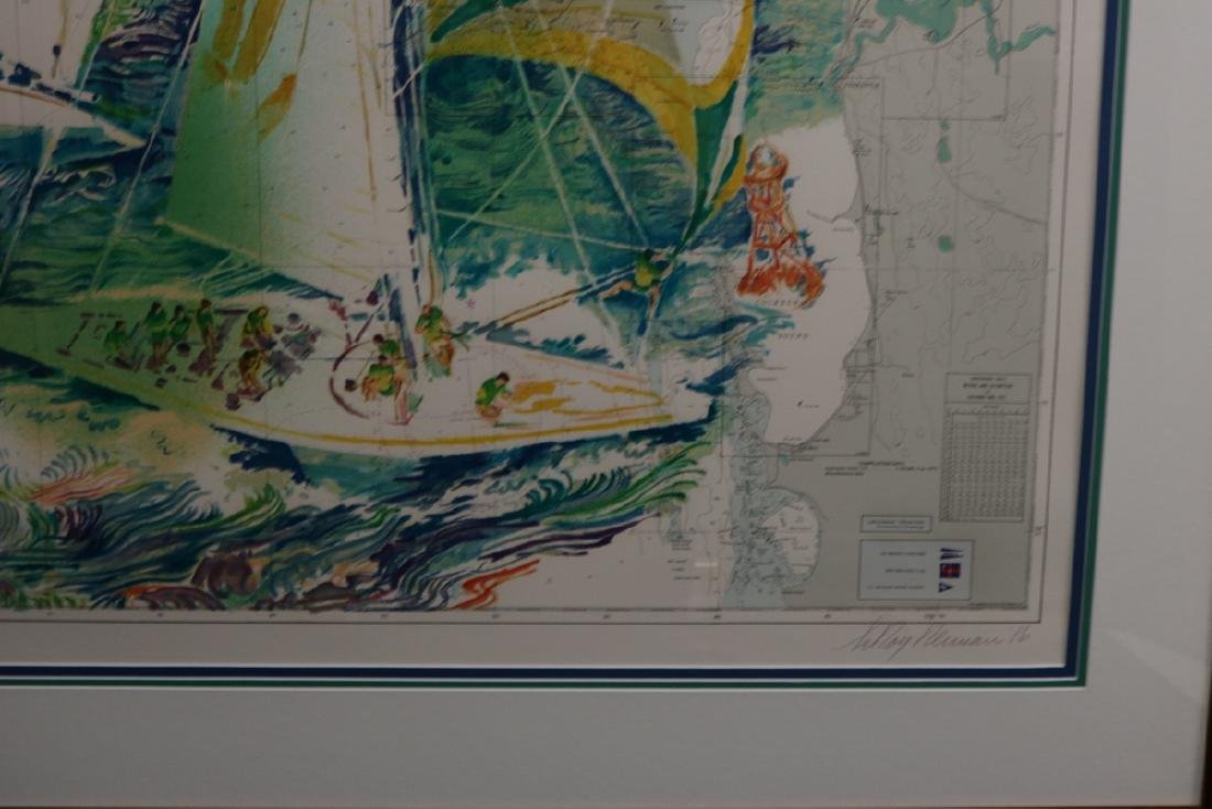 """LeRoy Neiman """"Approaches to Fremantle"""" Serigraph - 5"""