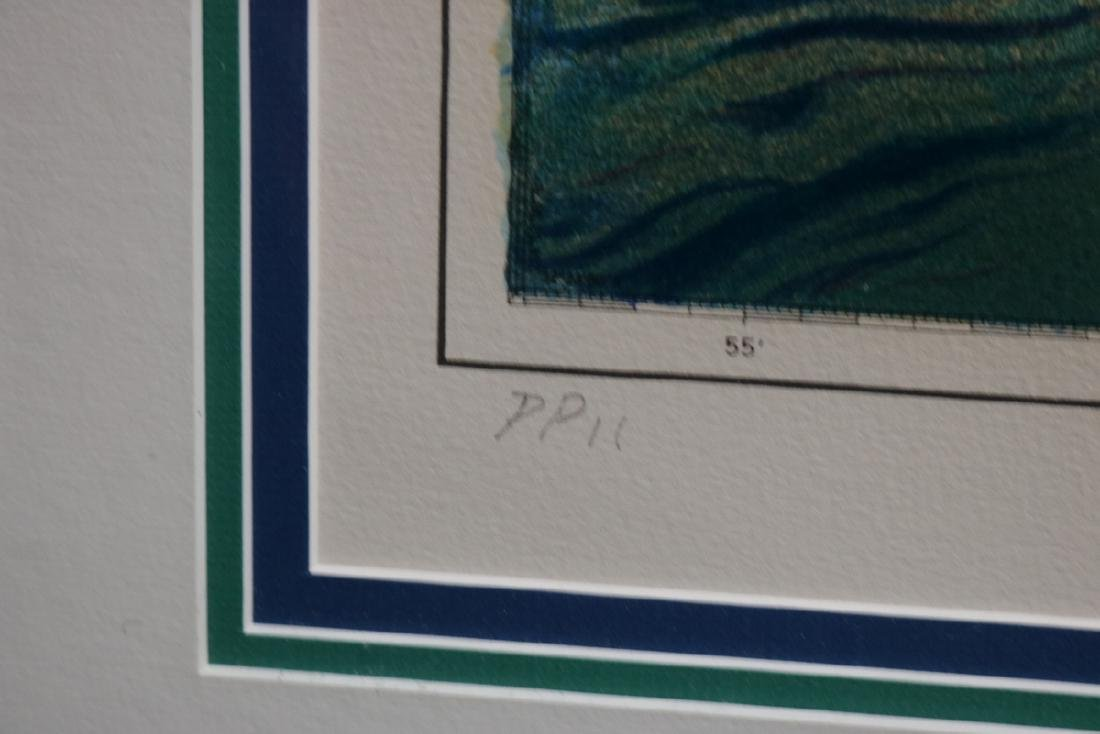 """LeRoy Neiman """"Approaches to Fremantle"""" Serigraph - 7"""