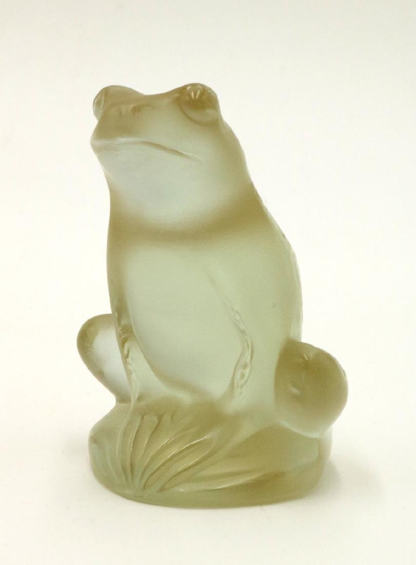 "Lalique ""Rainette"" Champagne Crystal Frog"