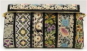 Judith Leiber Embroidered Silk Purse