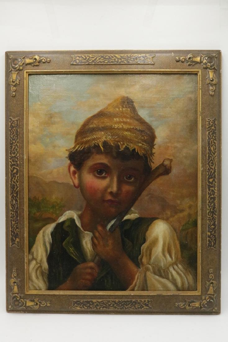 19th Century Oil Painting on Board - 2