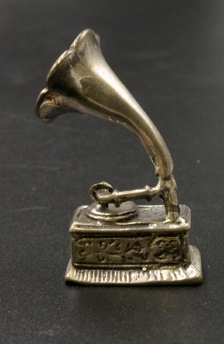 Miniature Sterling Record Player - 2