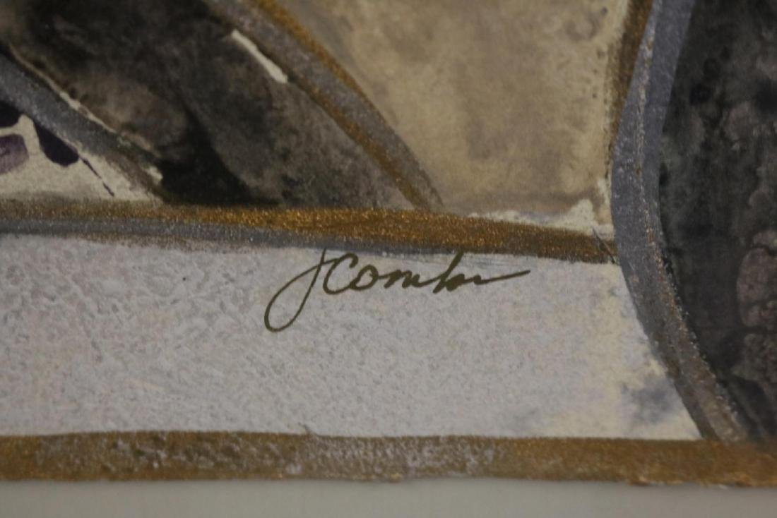 Signed Joyce Combs Mixed Media - 5