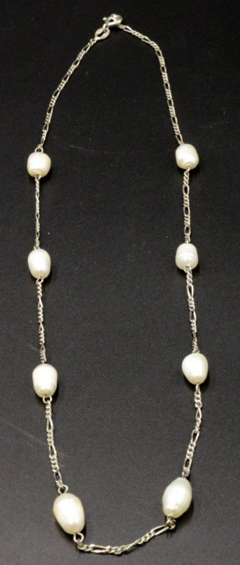 Sterling & Pearl Necklace