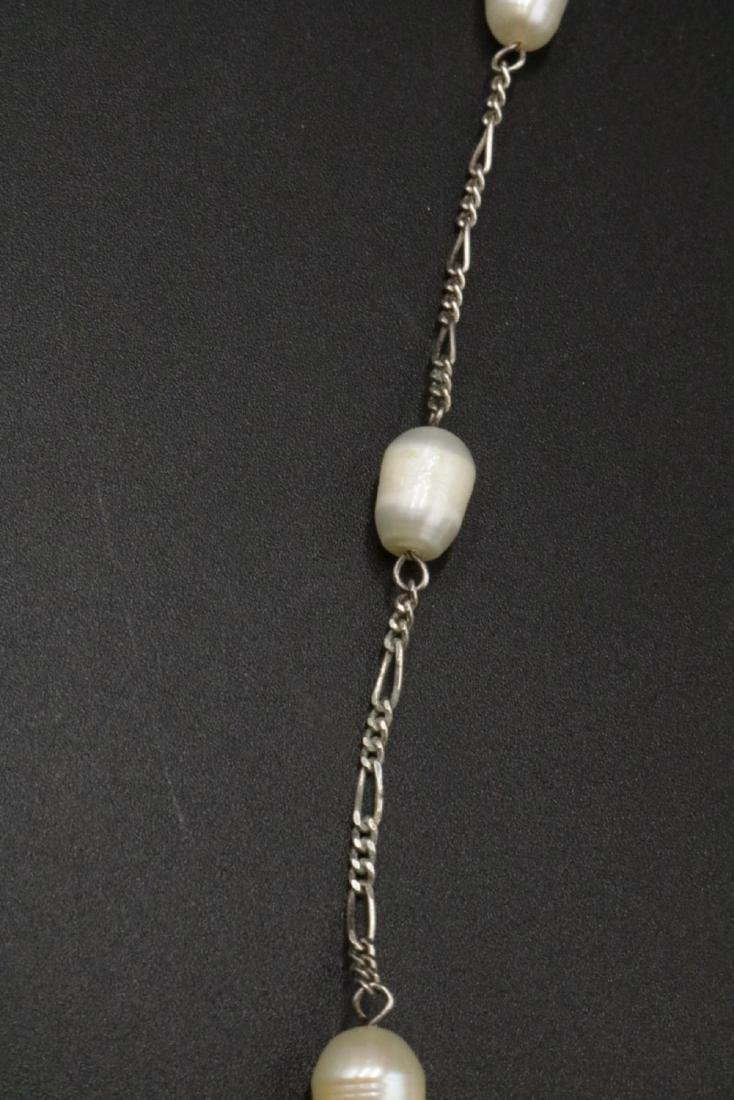 Sterling & Pearl Necklace - 2