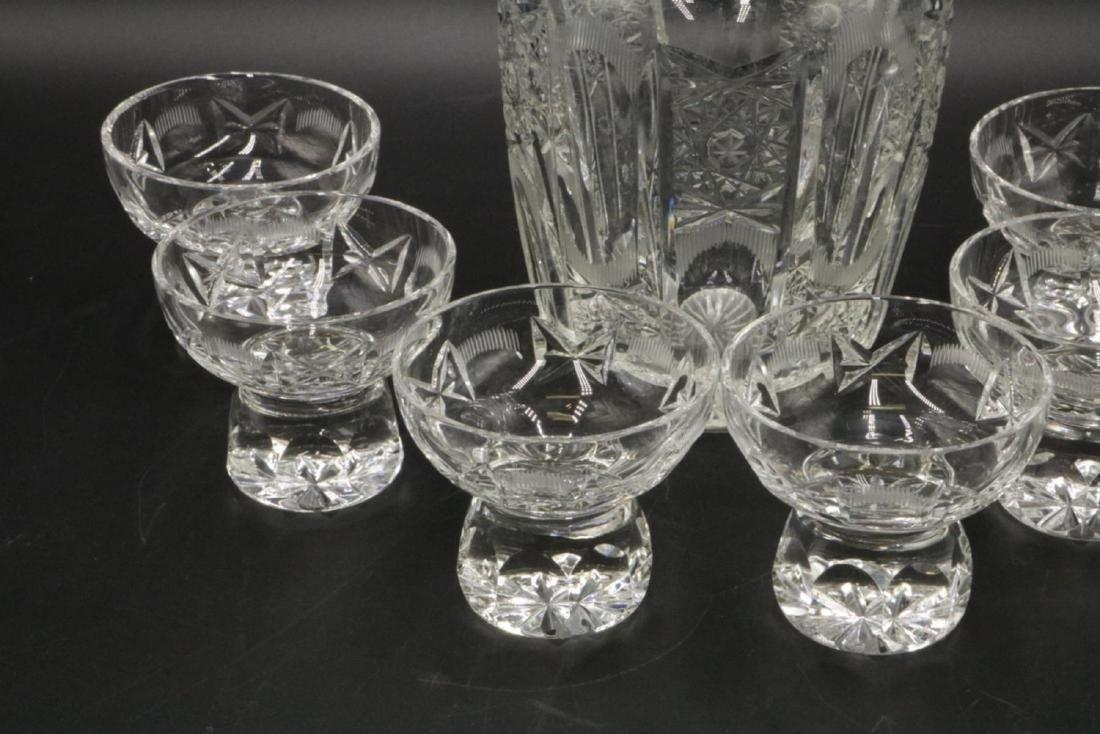7 Pc. Cut Glass Decanter Set - 2