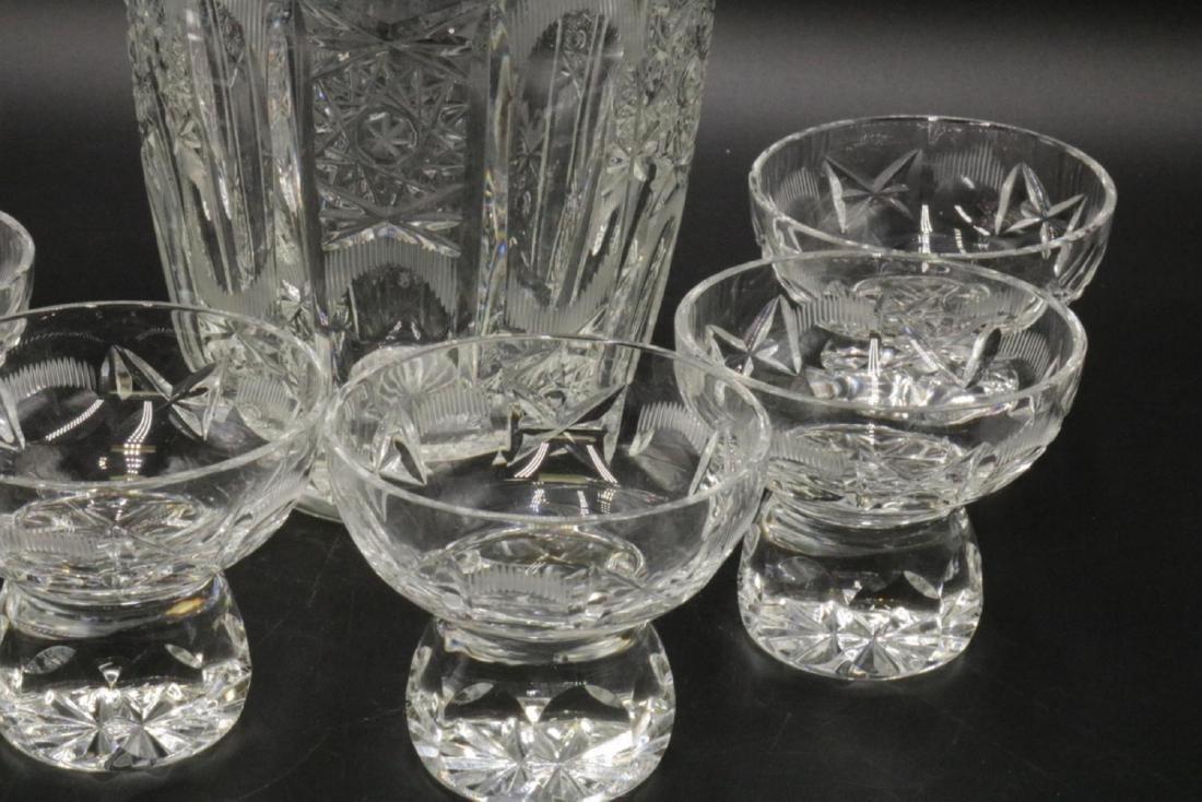 7 Pc. Cut Glass Decanter Set - 3
