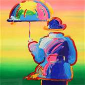 "Peter Max ""Umbrella Man"" Serigraph"