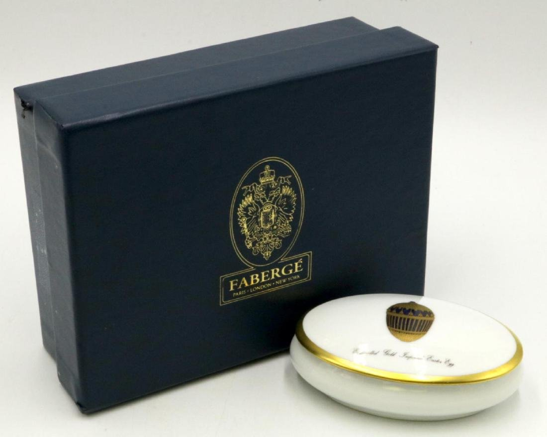Faberge Limoges France Hand Painted Porcelain Pill Box