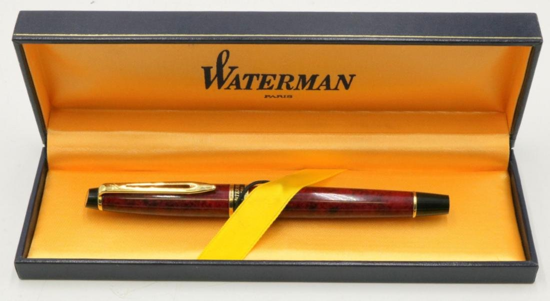 "Waterman ""Expert II"" Oriental Maroon Marble Fountain"