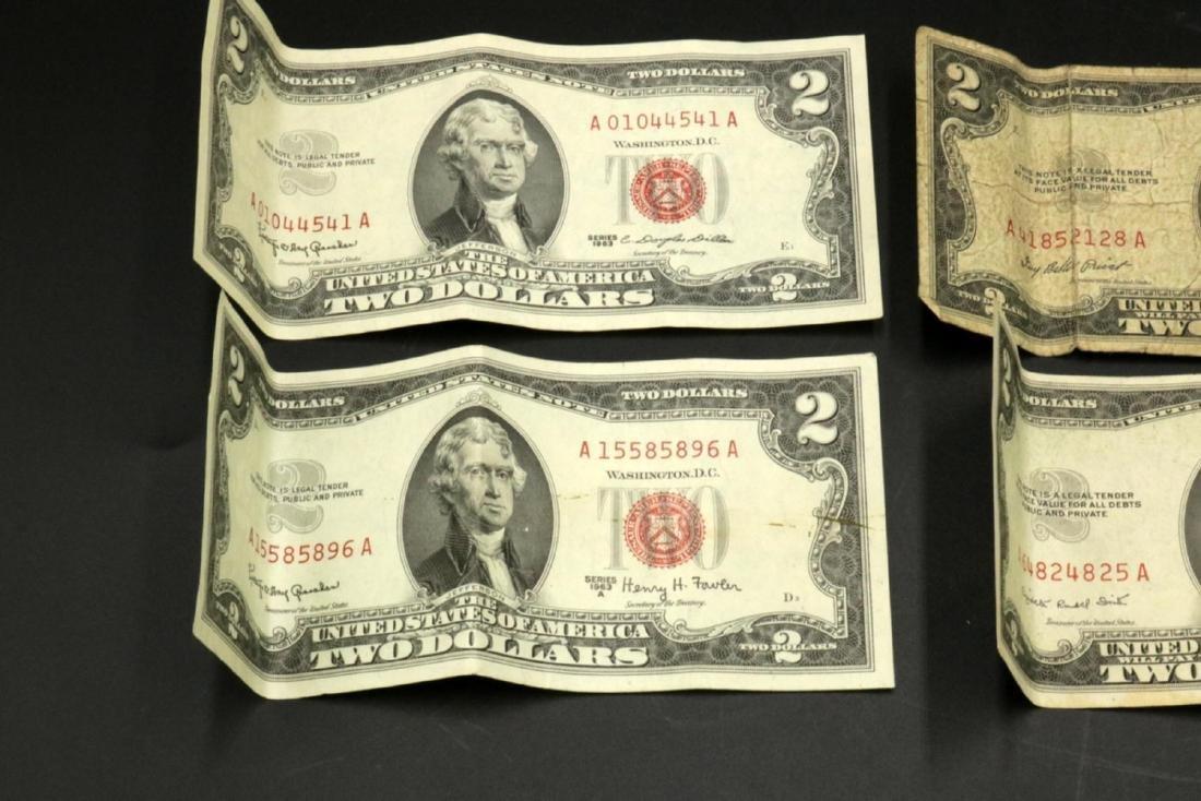 Six $2 United States Bills - 2