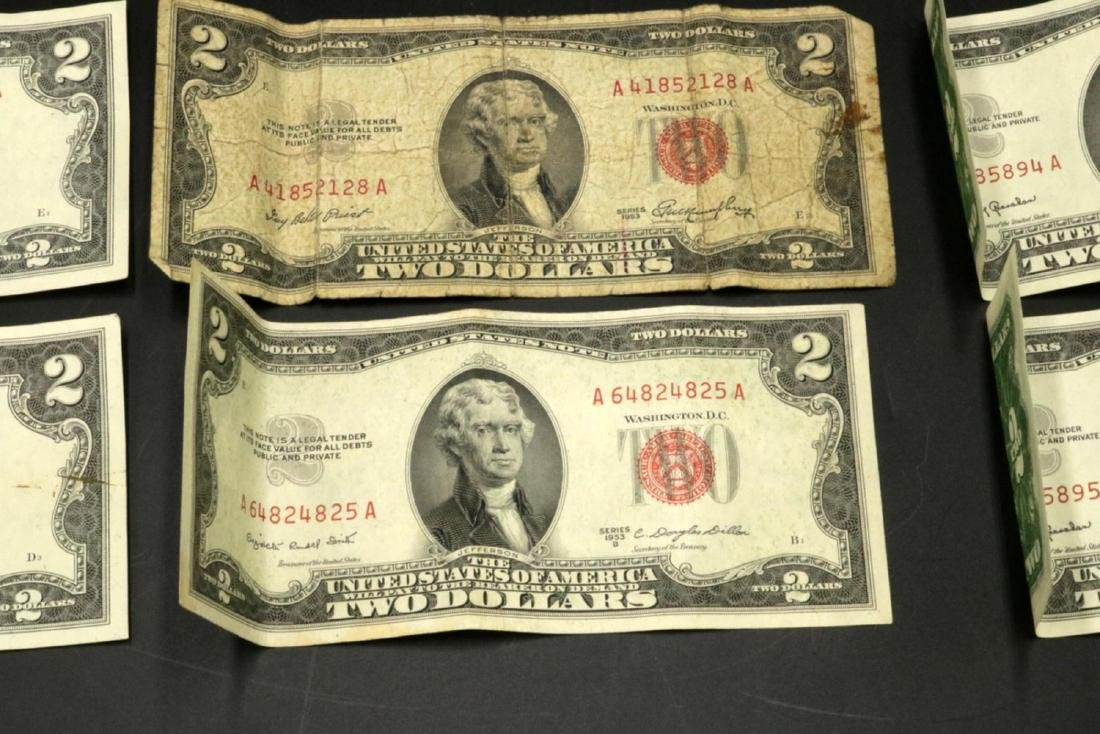 Six $2 United States Bills - 3