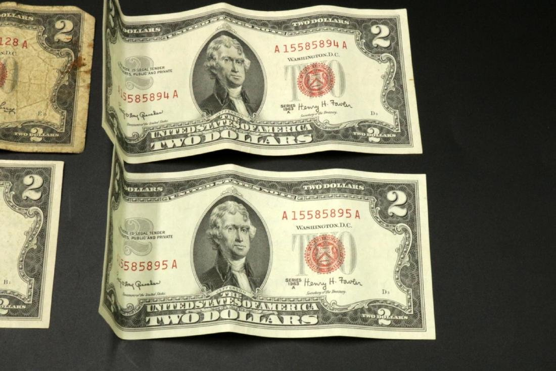 Six $2 United States Bills - 4